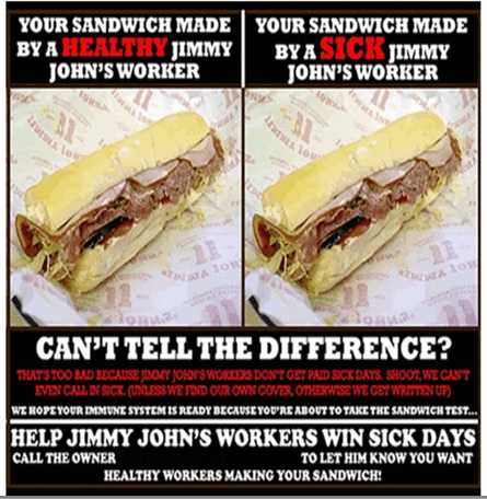 Jimmy John's Employees Organize for Sick Leave