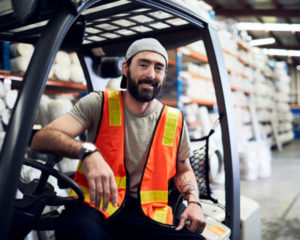 Milwaukee and Madison workers compensation attorneys help workers like this forklift operator recover after work injuries.